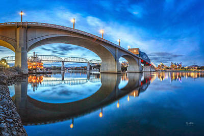Early Morning Under Market Street Bridge Art Print by Steven Llorca