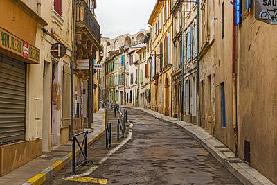 Photograph - Early Morning View At The Street In Old City Of  Arles France by Marek Poplawski