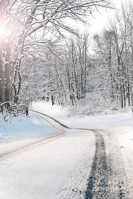 Photograph - Early Morning Winter Road by Sharon Dominick