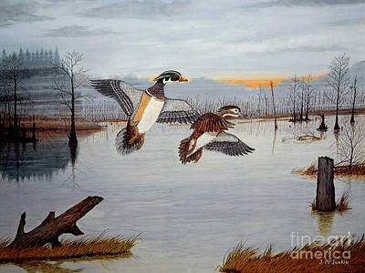 Carolina Duck Painting - Early Risers by Jeff McJunkin