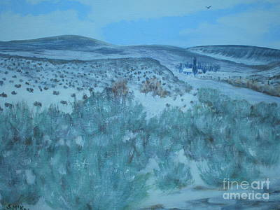 Early Snow In Idaho Art Print by Suzanne McKay