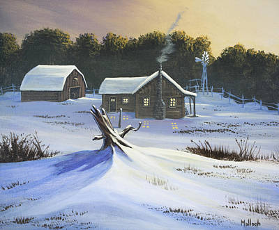 Painting - Early Snow by Jack Malloch