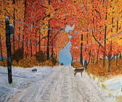 Tranquil Painting - Early Snow by Ken Figurski