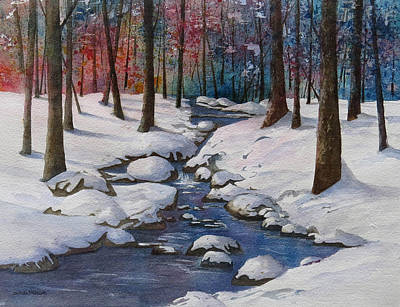 Wall Art - Painting - Early Snow by Linda McCallum