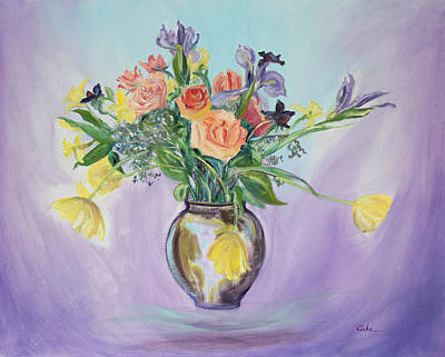 Painting - Early Spring Bouquet by Asha Carolyn Young