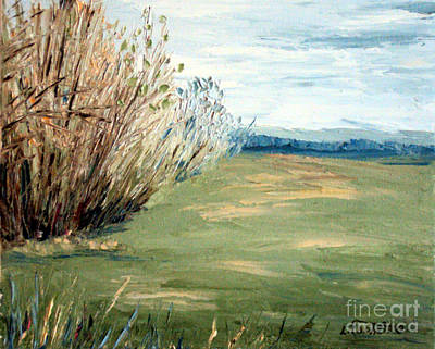 Early Spring Field Original by Laura Tasheiko