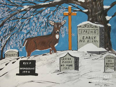 Grave Yard Painting - Early Spring by Jeffrey Koss