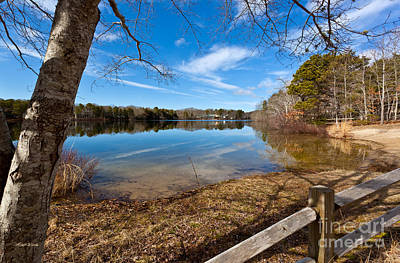 Early Spring On Long Pond Art Print by Michelle Wiarda