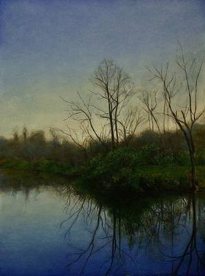 Print featuring the painting Early Spring by Wayne Daniels