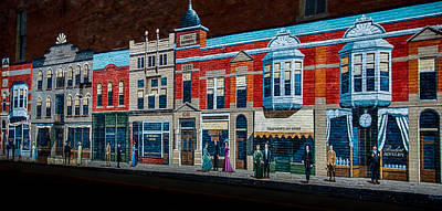 Photograph - Early Storefronts Mural by Gene Sherrill