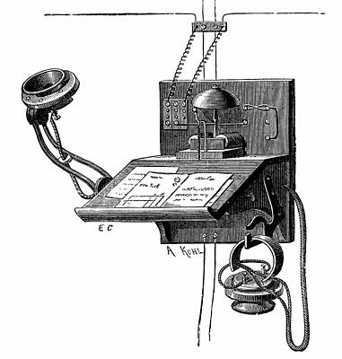 Early Telephone Apparatus Art Print by Universal History Archive/uig