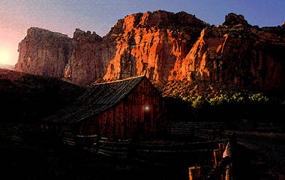 Old Barn Painting - Early To Rise by David Lee Thompson