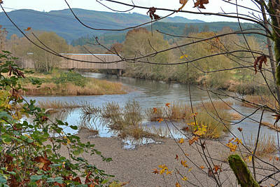 Photograph - Early Winter At The Grays River Covered Bridge by Ansel Price