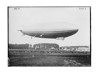 Negative Photograph - Early Zr-iii Dirigible Airship by MMG Archives