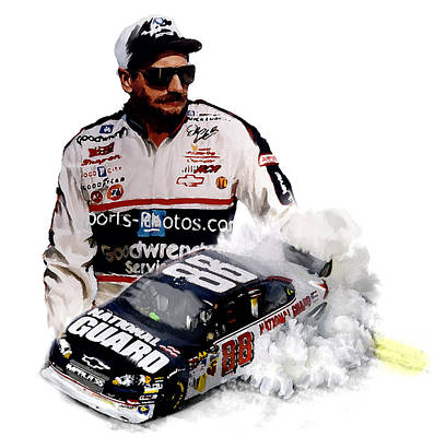Dale Earnhardt Painting - Earnhart Dale Earnhart by Iconic Images Art Gallery David Pucciarelli