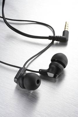 Earphones Using Neodymium Magnets Art Print by Science Photo Library