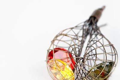 Gold Earrings Pastel - Earrings by Modern Art Prints