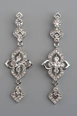 Zircon Photograph - Earrings With Gems by Nikita Buida