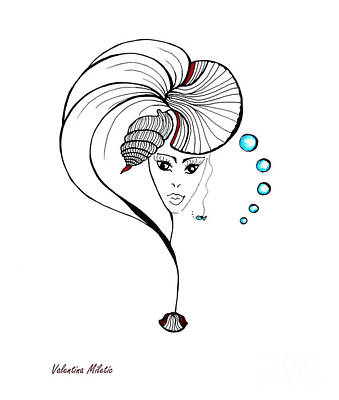 Shell Fairy - Art By Valentina Miletic Art Print by Valentina Miletic