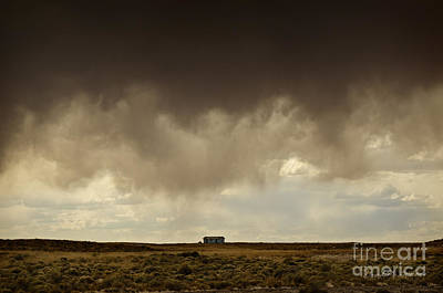 Earth And Clouds New Mexico II Print by Dave Gordon
