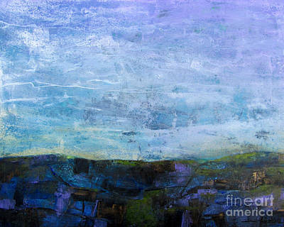 Semi-abstract Landscape Painting - Earth And Sky 2 by Wendy Westlake
