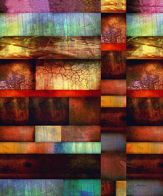 Mixed Media - Earth And Sky - Abstract Artmixed Media by Ann Powell