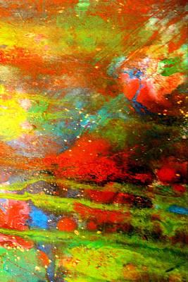 Earth And Sky Abstract Art Print