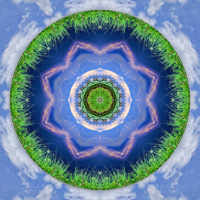 Photograph - Earth And Sky Mandala by Beth Sawickie