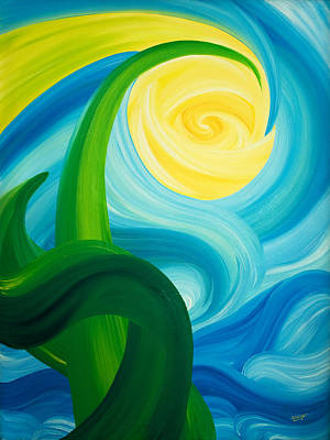 Painting - Earth And Sky Meet by Ginny Gaura