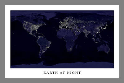 Photograph - Earth At Night  by Ahp