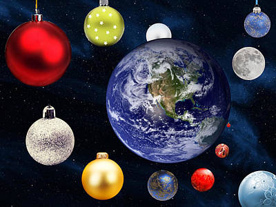 Earth Christmas 2 Art Print by Bruce Iorio