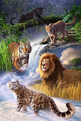 Tiger Wall Art - Digital Art - Earth Day 2013 Poster by Jerry LoFaro