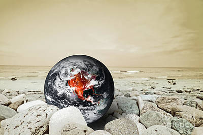 Copy Photograph - Earth Disaster by Michal Bednarek