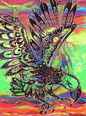 Earth Eagle Art Print by Lorinda Fore and Tony Lima