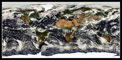 Photograph - Earth From Nasa Terra Satellite by Rose Santuci-Sofranko