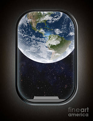 Photograph - Earth From Plane Window by Mike Agliolo