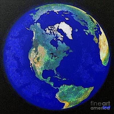 Earth From Space America Art Print