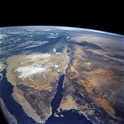 Saudia Photograph - Earth From Space, Astronaut Photo by Science Photo Library