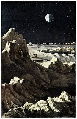 18th Century Photograph - Earth From The Moon by Cci Archives