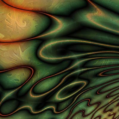 Digital Art - Earth Glitter 4 by Kiki Art