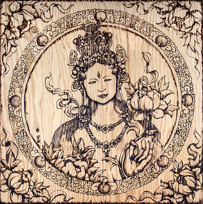 Nozomi Pyrography - Earth Goddess by Nozomi Takeyabu