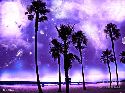 Earth 2 - A Purple World - At The Beach Art Print by Alicia Hollinger