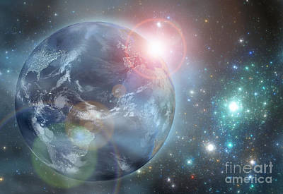Digital Art - Earth In The Space by Martin Capek