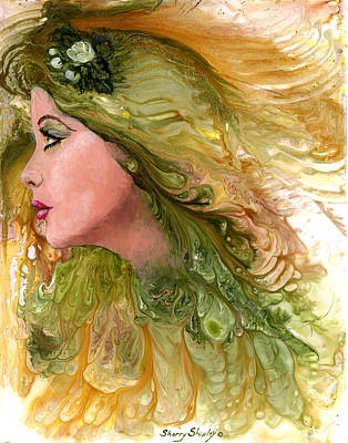 Earth Maiden Art Print by Sherry Shipley