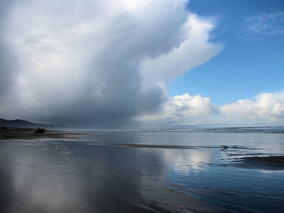 Photograph - Earth Meets Sea Meets Sky by Lora Fisher