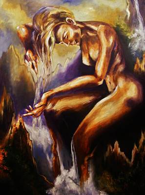 Painting - Earth Mother - Water by Karen  Ferrand Carroll