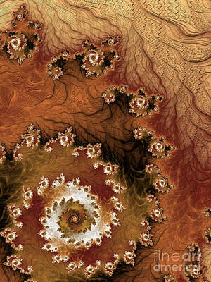 Brown Tones Digital Art - Earth Rhythms by Heidi Smith