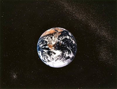 Space Exploration Photograph - Earth Seen From Apollo 17 Africa And Antarctica Visible by Anonymous