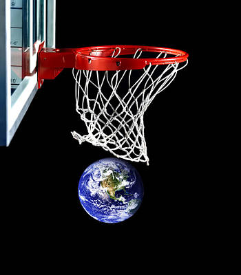 Earth Shoots And Scores Original by Bruce Iorio