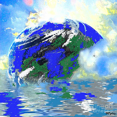 Painting - Earth Sky And Sea by Saundra Myles